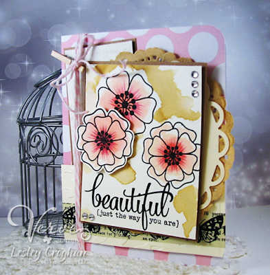 Handmade card by Lesley Croghan featuring Verve Stamps.