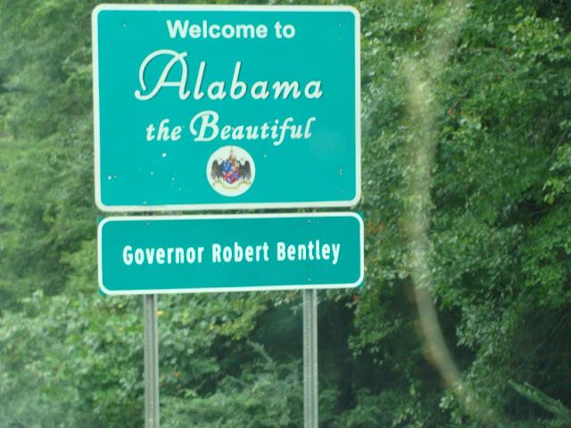 Alabama - Das Hinweisschild für den Staat.!