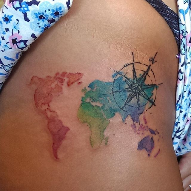 World map tattoos for World map tattoos