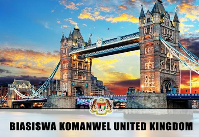 Permohonan Biasiswa Komanwel United Kingdom 2021 Online