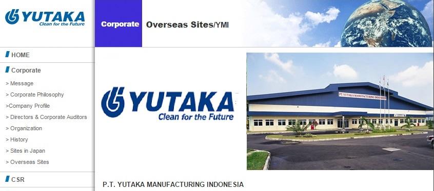 Loker Terbaru mm2100 di PT Yutaka Manufacturing Indonesia [YMI] Bagian Operator Produksi