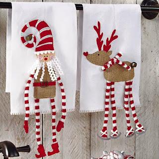 toallas de navidad blancas