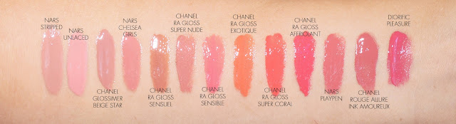 The Beauty Look Book - Chanel Rouge Allure Gloss comparisons