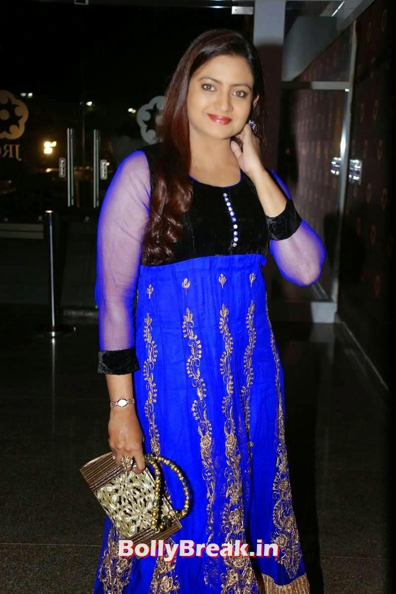 , Indraja hot Pics in Blue Churidar - Tamil Film Actress