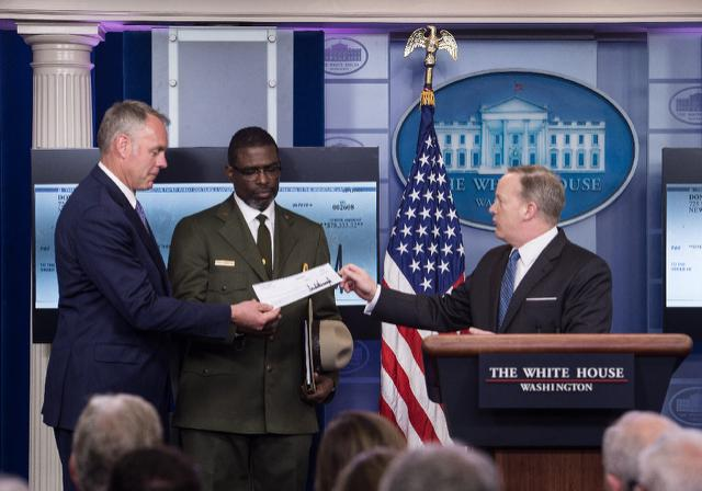 President Trump donates first-quarter salary of $78,333 to National Park Service