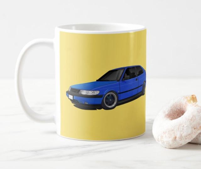 Saab 900 (NG900) coffee mug, kaffe muggar