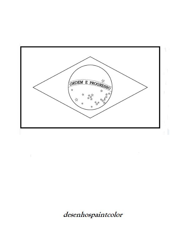 Bandeira Do Brasil Pequena Para Imprimir