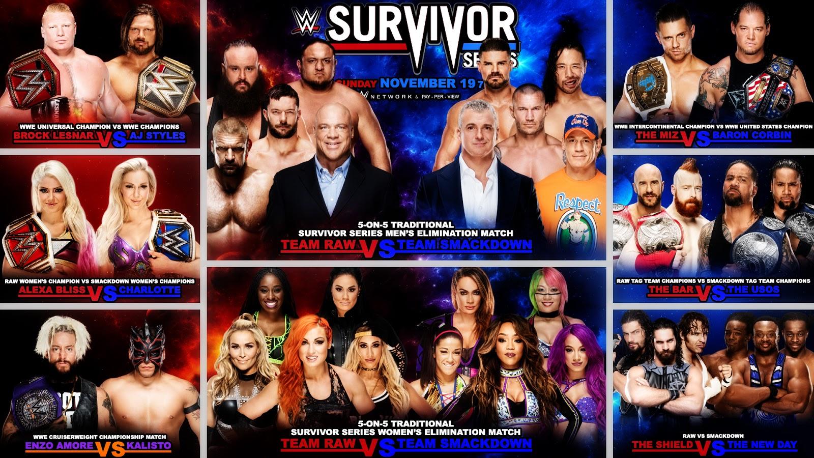 2017 wwe survivor series matches
