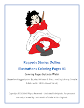 Raggedy Stories Dollies Inspired Free Coloring Pages #1<br>E-Book