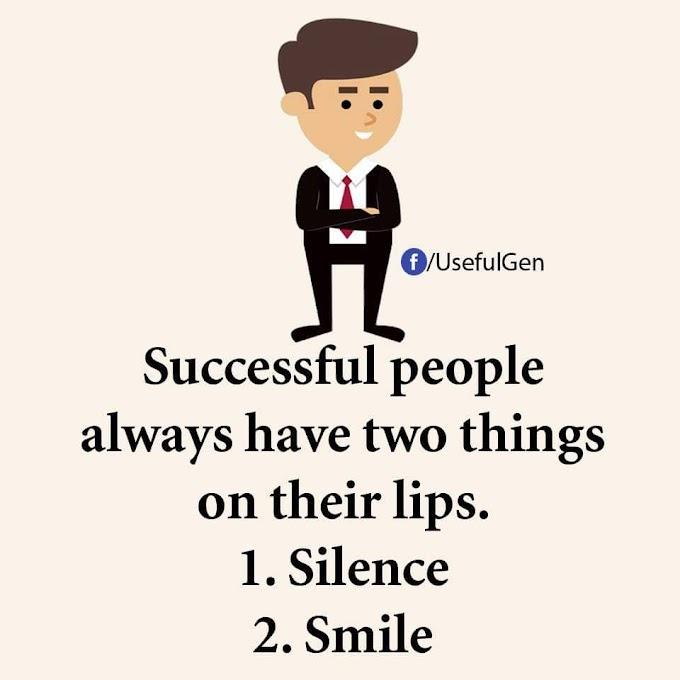 2 Perkara Yang Perlu Ada Pada Bibir Orang Berjaya!