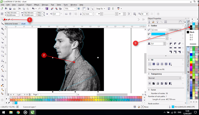 Cara Membuat Desain Foto Siluet Di CorelDraw Yang Benar Dan Rapi