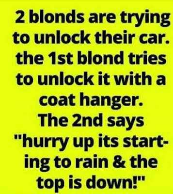 Always love a good blonde joke!!