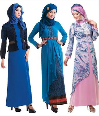 Model Baju Gamis Muslim Brokat Untuk Pesta Modern