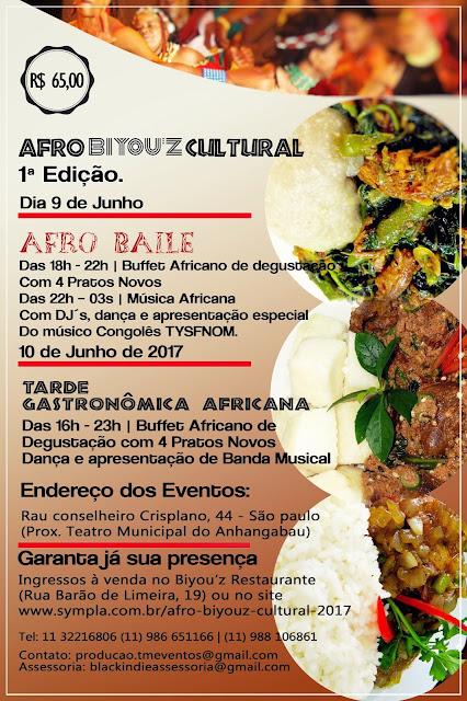 Afro Biyou'z Cultural: O maior evento de gastronomia africana em SP.