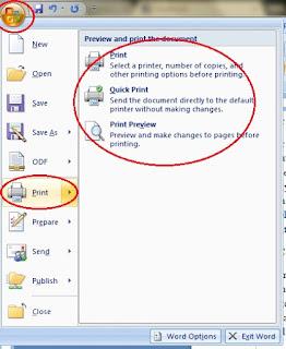 Cara Cetak Dokumen Microsoft Word