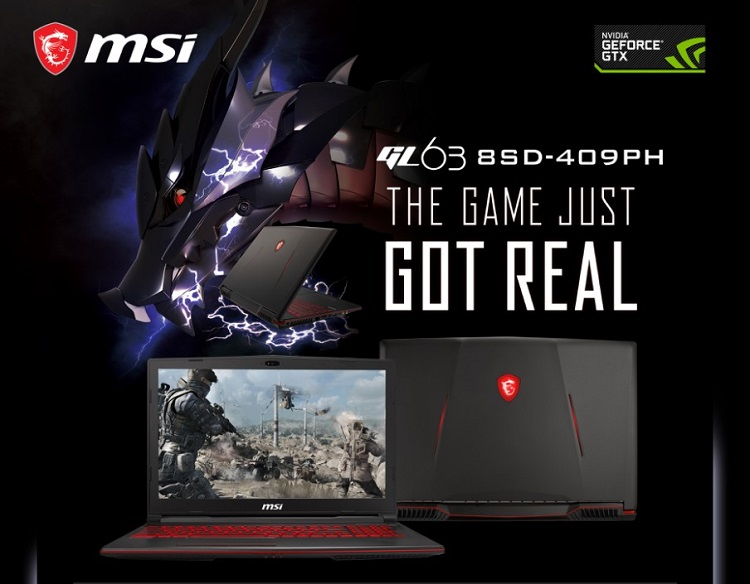 MSI GL63 8SD with GTX 1660Ti Now Available in the Philippines