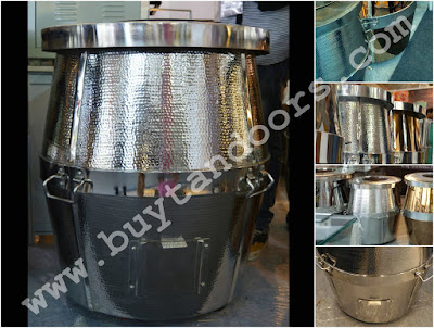 Stailness Steel barrel shape Hammered tandoor