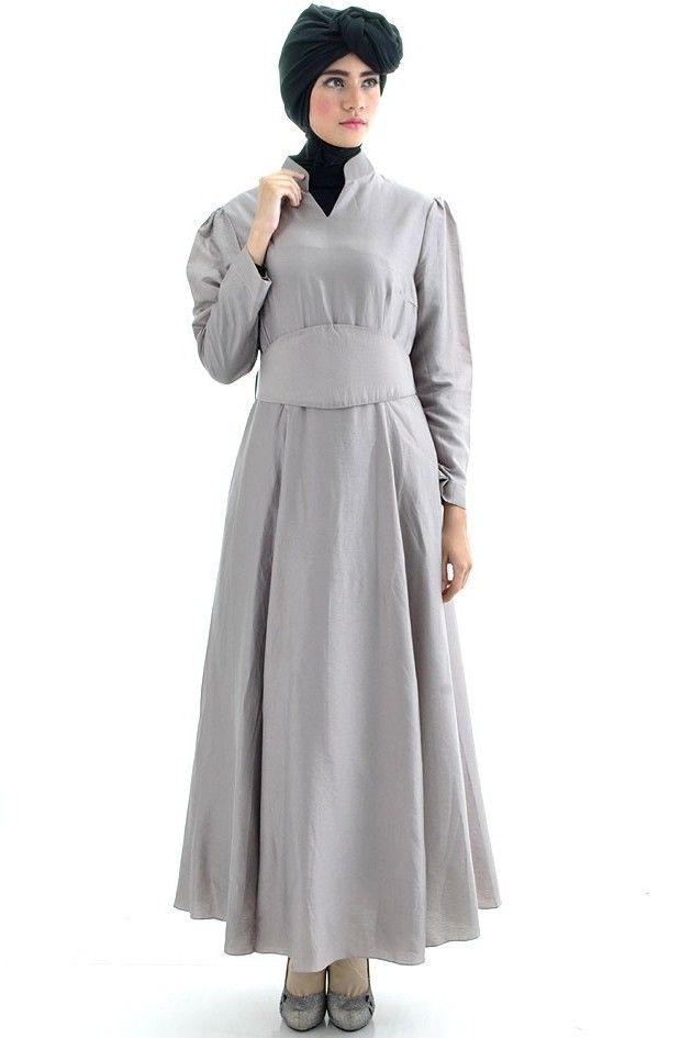 Model baju gamis terbaru batik pesta bahan brokat sifon Baju gamis versi 2015