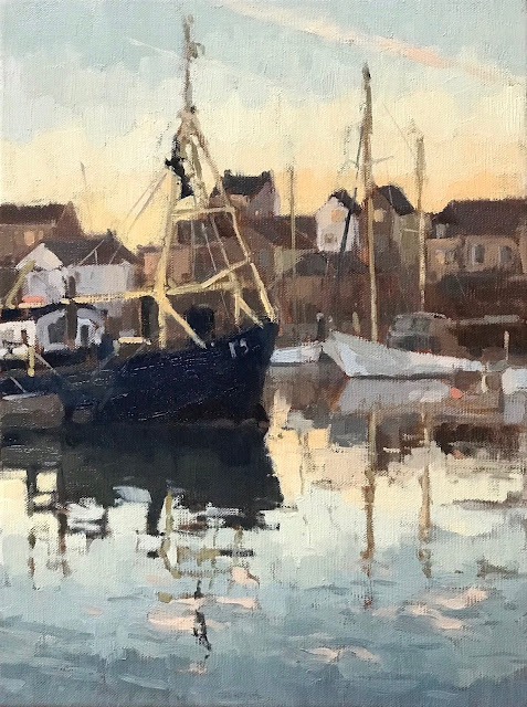 #424 'Early Winter Light, Camber Docks, Portsmouth' 30x40cm