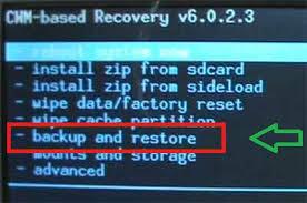 Cara mudah Backup dan Restore Data lewat CWM Recovery