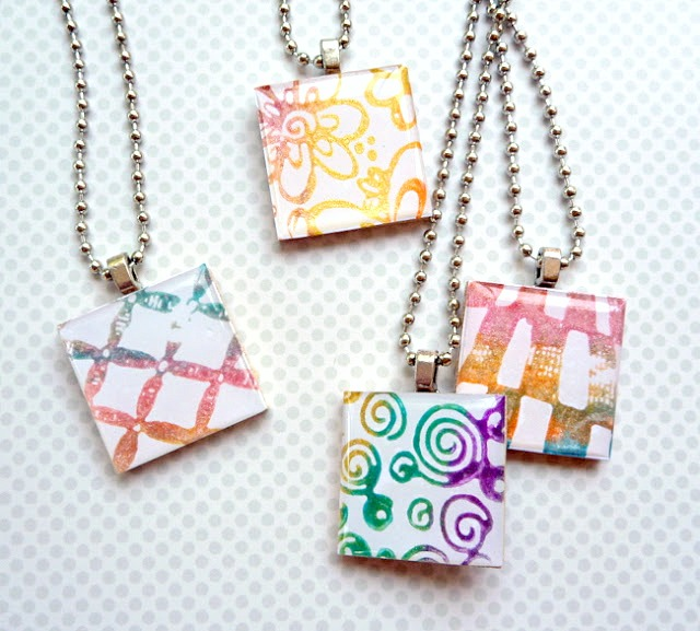 Stamped Friendship Necklaces by Dana Tatar