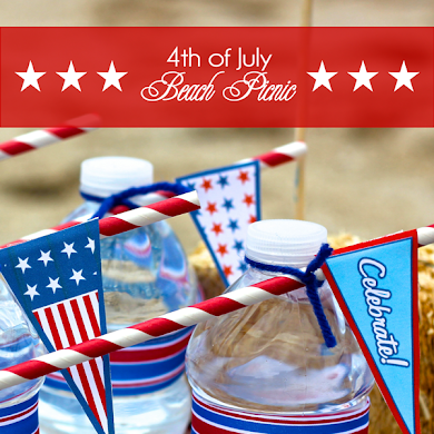 4th of July Beach Picnic with Free Printables