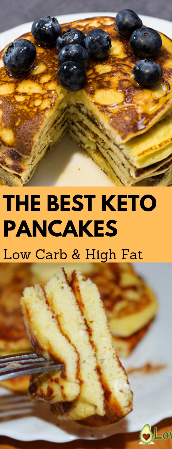The best Keto Pancakes Low Carb & High Fat #HIGHFAT #KETO #LOWCARB