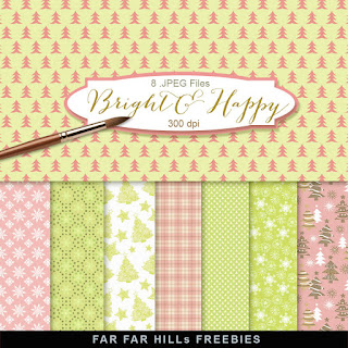 New Freebies Kit of Backgrounds - Bright and Happy