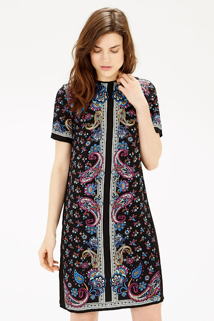 warehouse paisley dress,