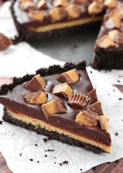 REESES CHOCOLATE PEANUT BUTTER TART