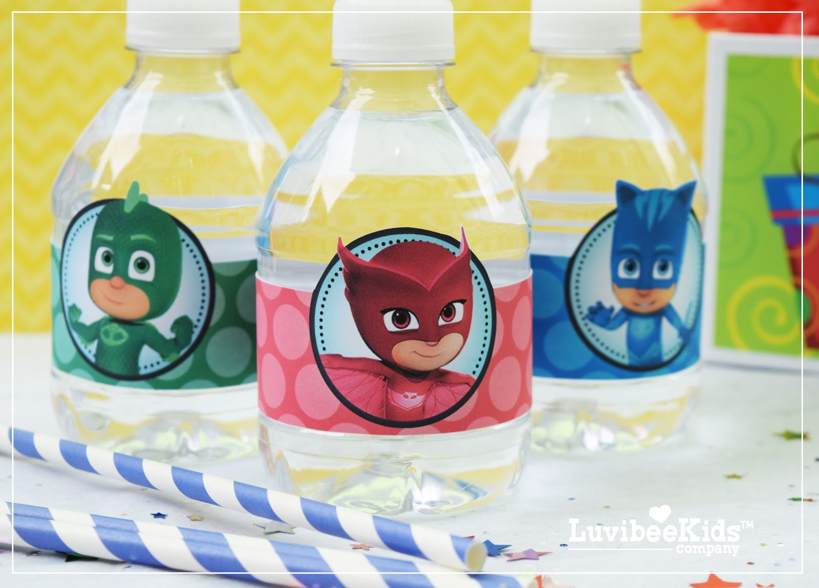 photo about Pj Masks Printable Images titled PJ Masks H2o Bottle Labels - Absolutely free Printable
