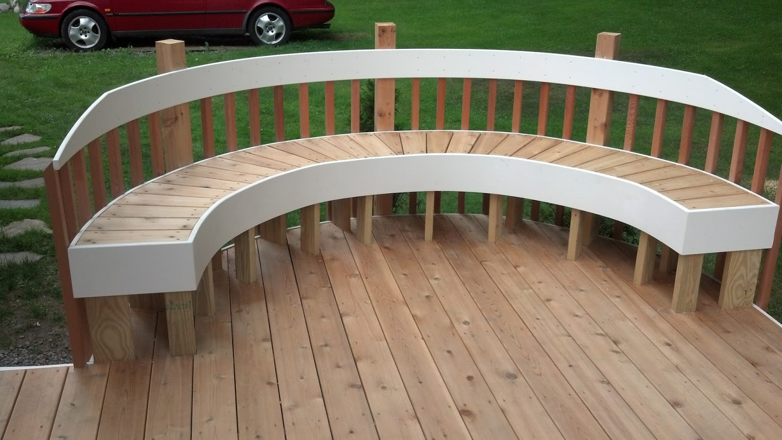 David Randall Woodworking: Curve Cedar Deck & Bench with ...