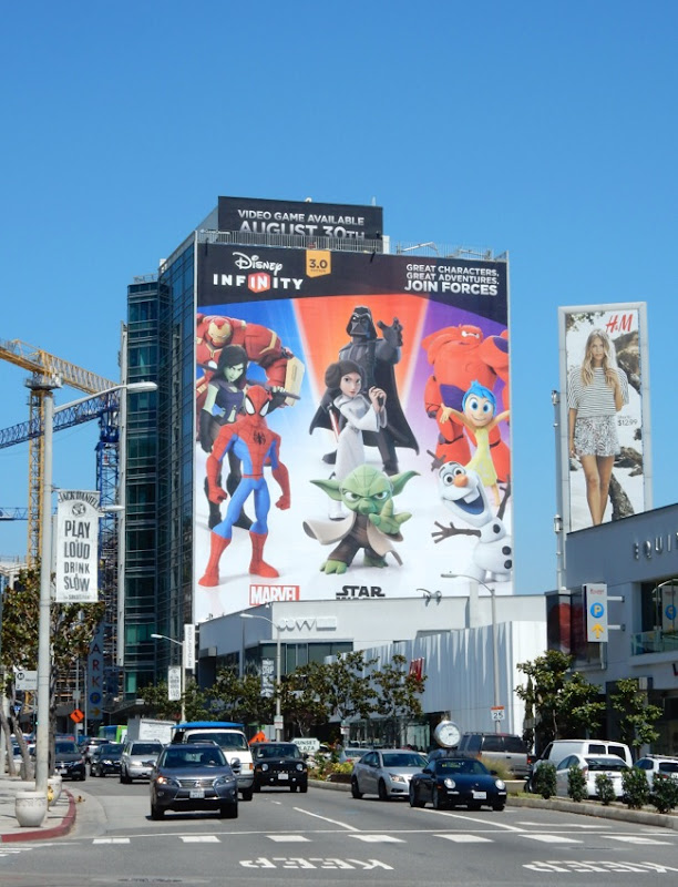Giant Disney Infinity 3 billboard