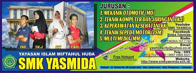 Stiker Informasi Sekolah SMK Yasmida Ambarawa