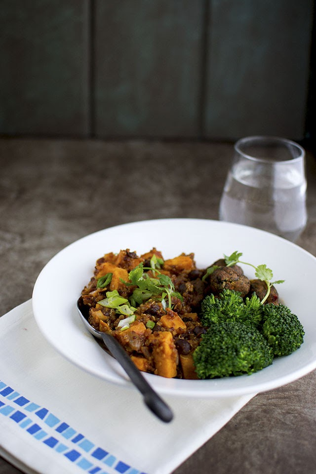Vegetarian Chili with Sweet potato and Quinoa