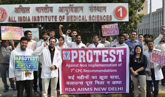 AIIMS-Doctors-Strike-7th-Pay-Commission