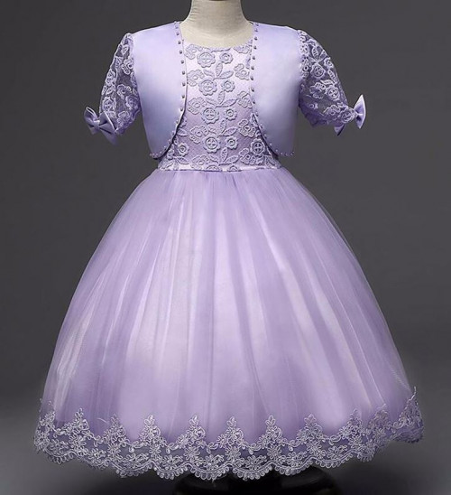 Lavander Dress for Toddler Girls