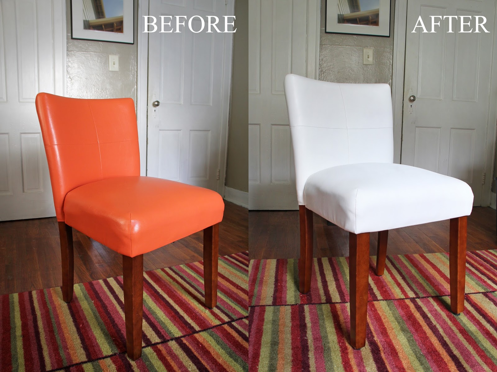 DIY Painted Vinyl: The dramatic before & after!