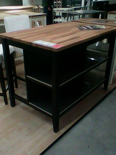 Ikea Stenstorp  Black Kitchen Cart  Updated