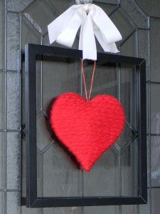 picture frame valentine wreath