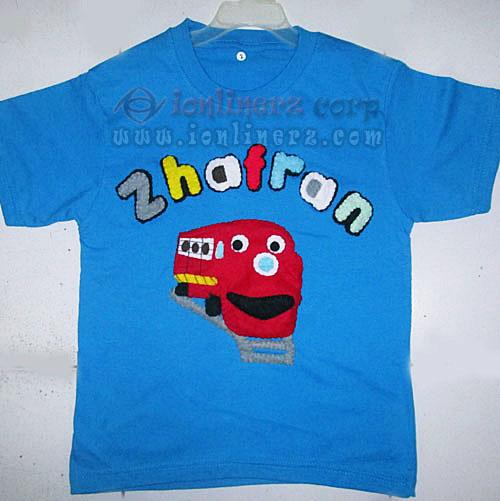 Kaos / Baju Flanel Anak Karakter Kartun Kereta Chuggington