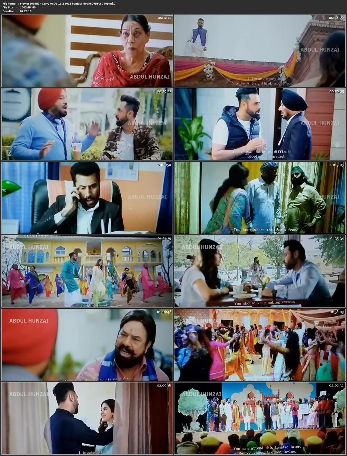 Carry on Jatta 2 2018 Punjabi full Movie DVDScr 720p 1.5GB