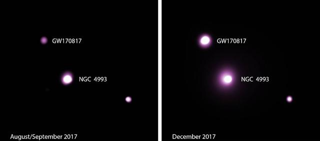 ondas gravitacionais da fusão de duas estrelas de nêutrons