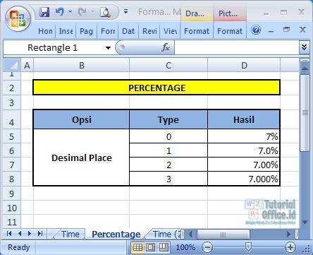 Format Percentage