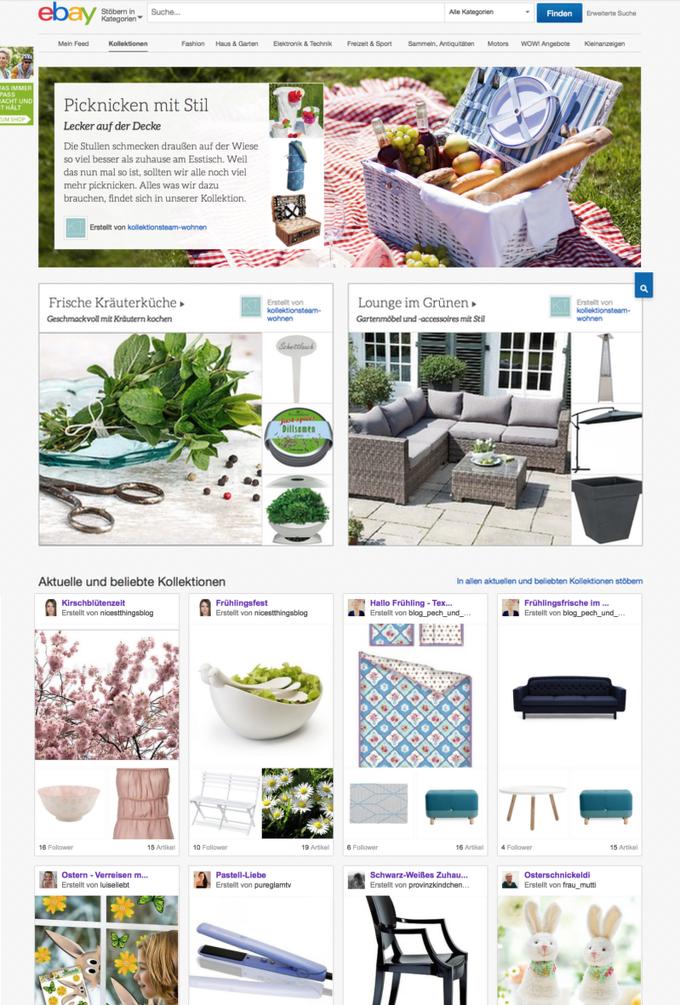 eBay Kollektionen von Bloggern und Influencern