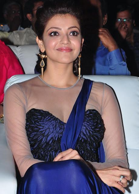 Kajal Agarwal Saree Gown at Jayasurya Audio Launch
