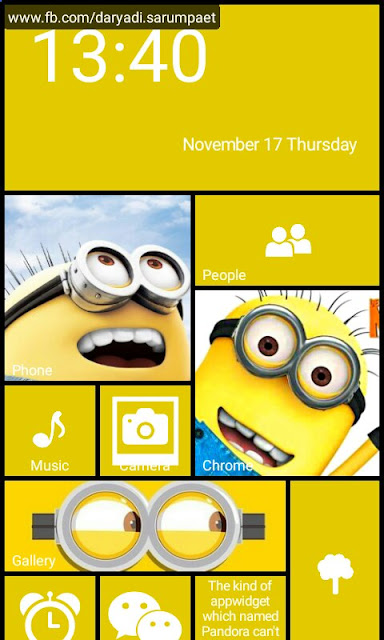 launcher 8 pro android application minions theme