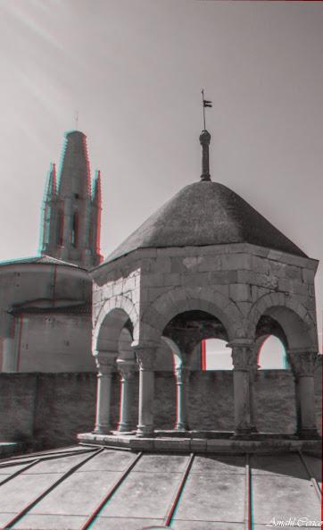 View of Basilica de Sant Feliu from the Banys Arabs rooftop.