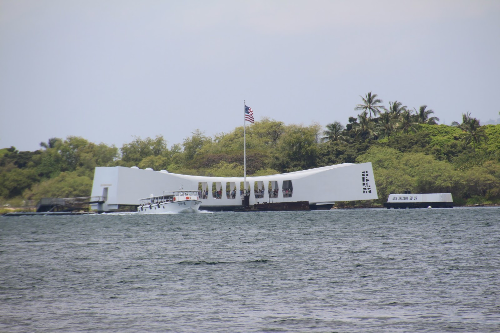 Above, The Uss Arizona Memorial And Shuttle Boat Last Month Photo By  Armand Vaquer