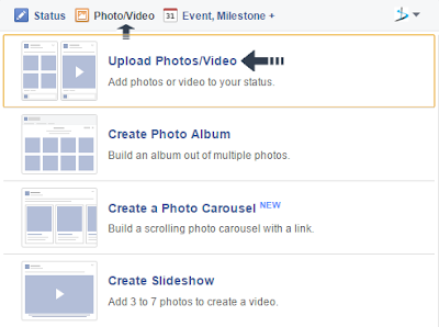 upload video on facebook